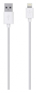 Кабель BELKIN USB 2.0 Lightning charge/sync cable 1.2м, White (F8J023bt04-WHT)