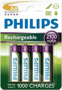 Аккумуляторы PHILIPS MultiLife R6 AA 2100mAh бл. 4шт