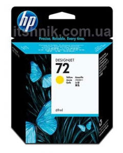 Картридж HP No.72 DJ T1120 Yellow (C9400A) 69мл