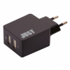 Сетевое зарядное устройство JUST Core Dual USB Wall Charger (3.4A/17W, 2USB) Black (WCHRGR-CR-BLCK)