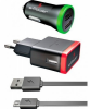Комплект 3в1 E-Power MicroUSB+2USB 2.1A EP802CHS