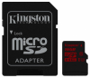 Карта памяти Kingston microSDHC 16Gb Class 10 UHS-I U3 R90/W80MB/s + SD адаптер 4K Video (SDCA3/16Gb)