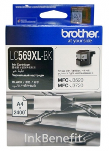 Картридж Brother MFC-J3520 XL black (2 400стр) (LC569XLBK)